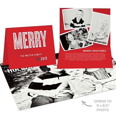 Merry Big Poster Holiday Photo Cards