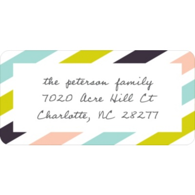 Trendy Stripes -- Address Labels