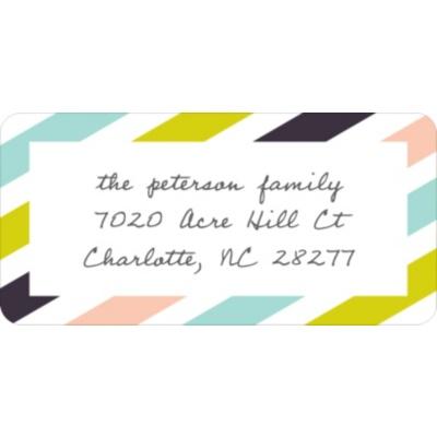 Trendy Stripes Christmas Address Labels