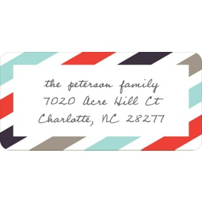 Trendy Stripes -- Christmas Address Labels