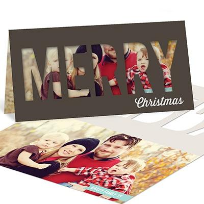Peekaboo Christmas Photo Christmas Cards