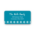 Snowflake Border -- Holiday Address Labels