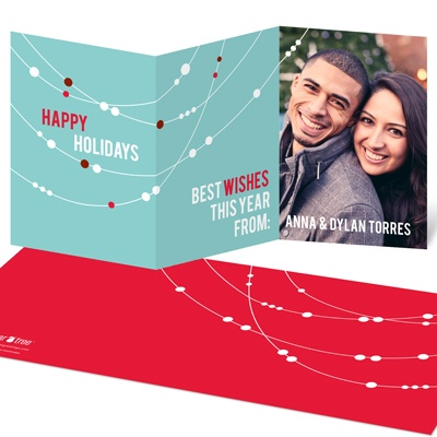 Swooping Lights Holiday Photo Cards
