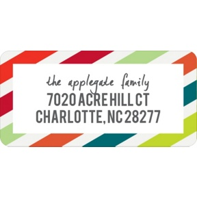 Striped Style -- Christmas Address Labels