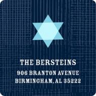 Starred in Style Hanukkah Address Labels
