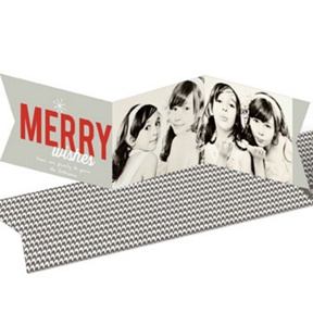 Festive Two Photo Banner -- Christmas Cards