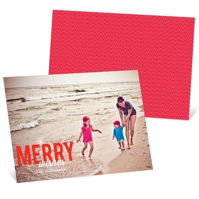 Single Snowflake Horizontal Photo Holiday Photo Cards
