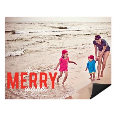 Single Snowflake Magnet Photo Christmas Cards