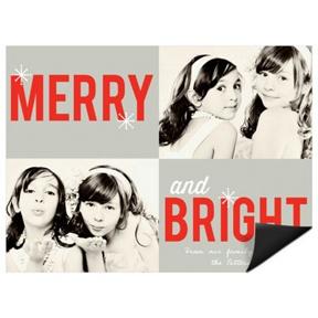 Seasonably Bright Magnet -- Christmas Cards