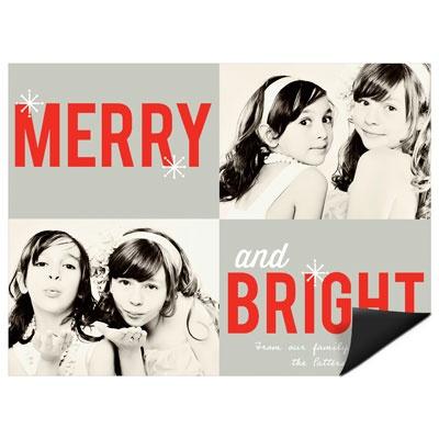 Seasonably Bright Magnet Photo Christmas Cards