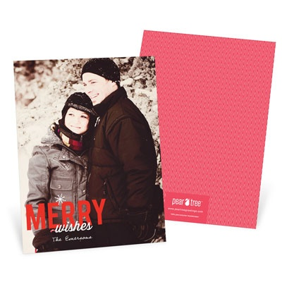 Single Snowflake Vertical Photo Holiday Photo Cards