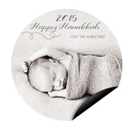 Swirling Circle Magnet Hanukkah Cards