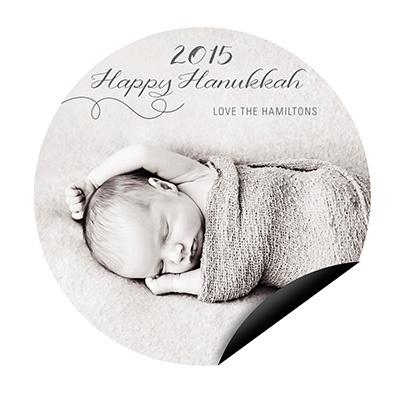 Swirling Circle Magnet Hanukkah Cards