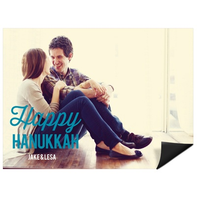 Simply Happy Horizontal Photo Magnet Hanukkah Cards