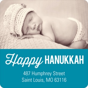 Bold Blessings -- Hanukkah Address Labels