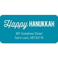 Simply Happy Hanukkah Address Labels