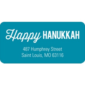 Simply Happy -- Hanukkah Address Labels
