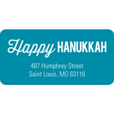 Simply Happy Hanukkah Address Labels