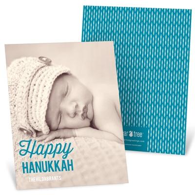 Linear Love Vertical Photo Hanukkah Cards
