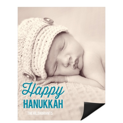 Simply Happy Vertical Photo Magnet Hanukkah Cards