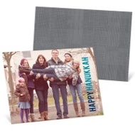 Block Greeting Horizontal Photo Hanukkah Cards