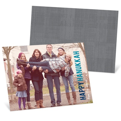 Block Greeting Horizontal Photo Hanukkah Cards