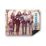 Block Greeting Horizontal Photo Magnet -- Hanukkah Cards