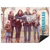 Block Greeting Horizontal Photo Magnet