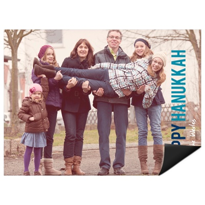 Block Greeting Horizontal Photo Magnet Hanukkah Cards