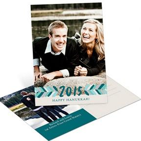 Directional Bliss Vertical Photo Postcard -- Hanukkah Cards
