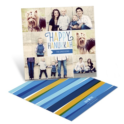 Colorful Collage Hanukkah Cards