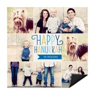 Colorful Collage Magnet Hanukkah Cards