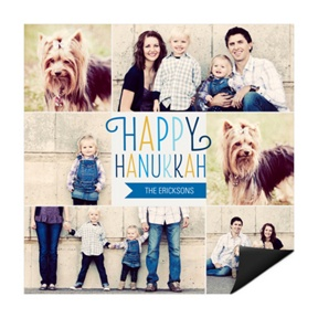 Colorful Collage Magnet -- Hanukkah Cards