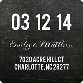 Date Line - Save the Date Address Labels