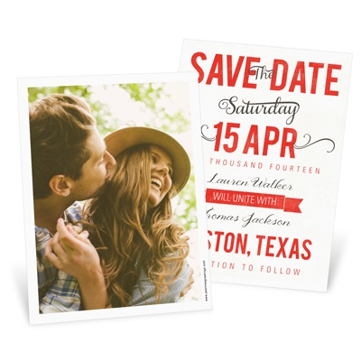 Creative Calligraphy Save the Date Cards