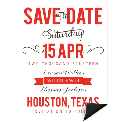 Creative Calligraphy Save the Date Magnets