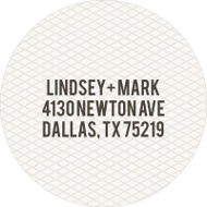 Circled Netting Save the Date Address Labels