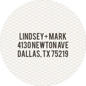 Circled Netting -- Save the Date Address Labels