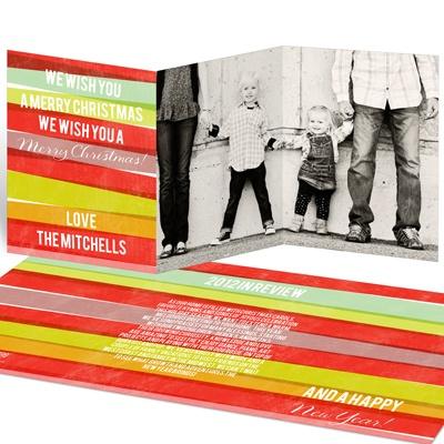 Ribbon Wrapping Holiday Photo Cards