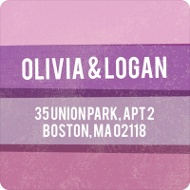 Engaging Stripes in Purple Save the Date Address Labels