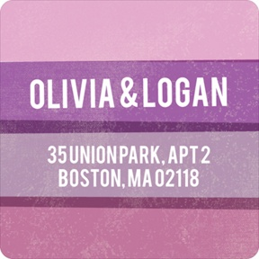 Engaging Stripes in Purple -- Save the Date Address Labels