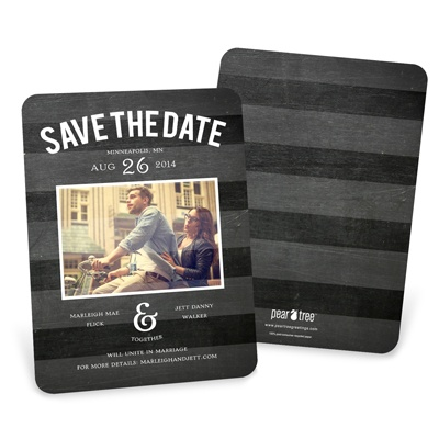 Chalkboard Date Save the Date Cards