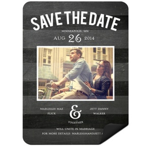 Chalkboard Date Photo -- Save the Date Magnets