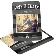 Chalkboard Date Save the Date Postcards