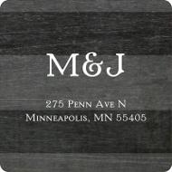 Chalkboard Monogram Save the Date Address Labels