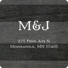 Chalkboard Monogram -- Save the Date Address Labels