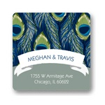 Birds of a Feather -- Save the Date Address Labels