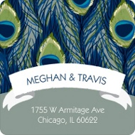 Birds of a Feather Save the Date Address Labels