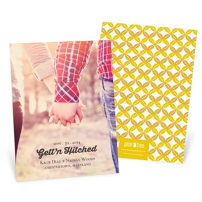 Diamond Design -- Save the Date Cards