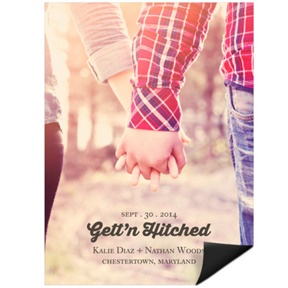 Gett'n Hitched Photo -- Save the Date Magnets